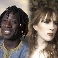 Cecilia Le Poer Power with Amadou Diagne