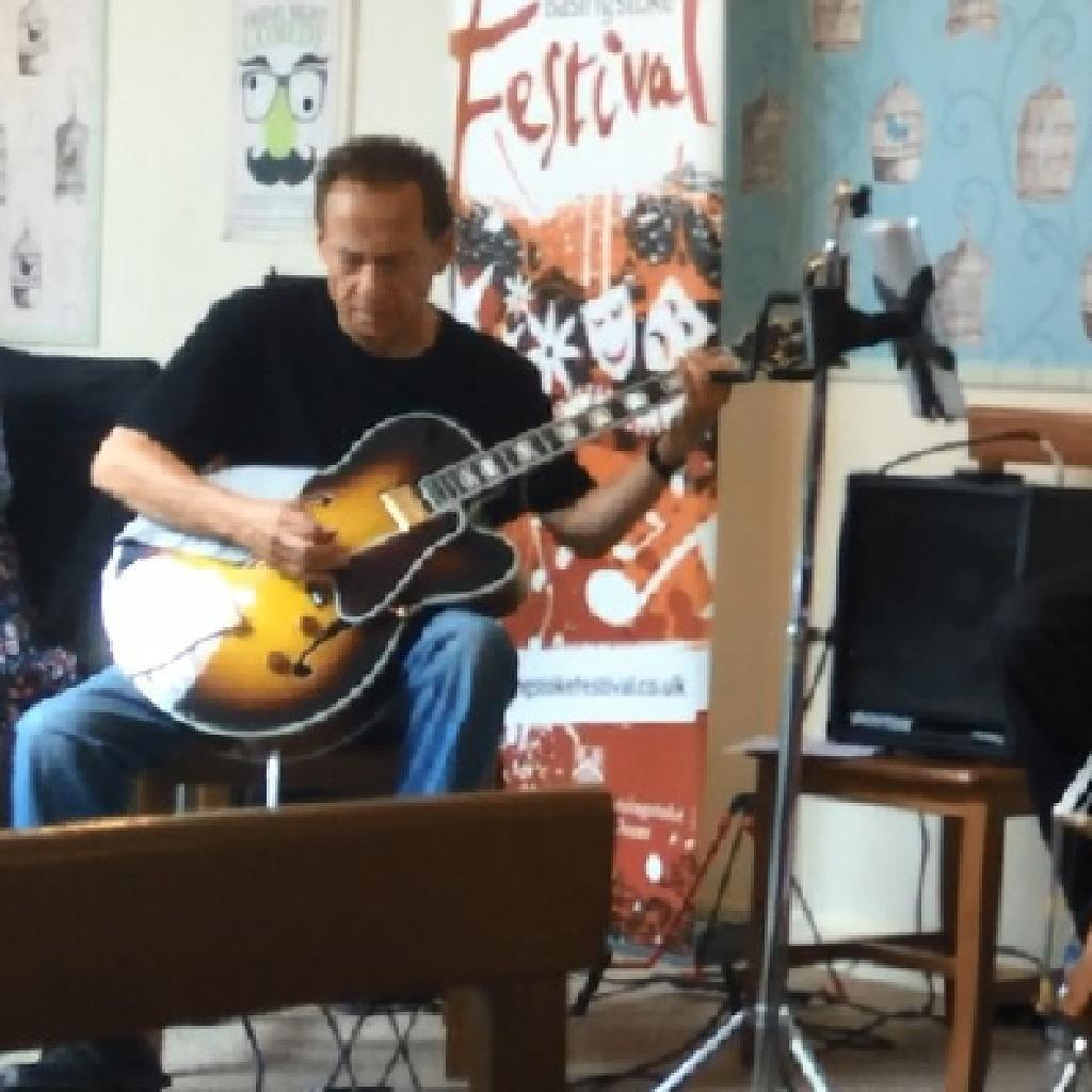 Jazz guitarist Mike Miller with his trio