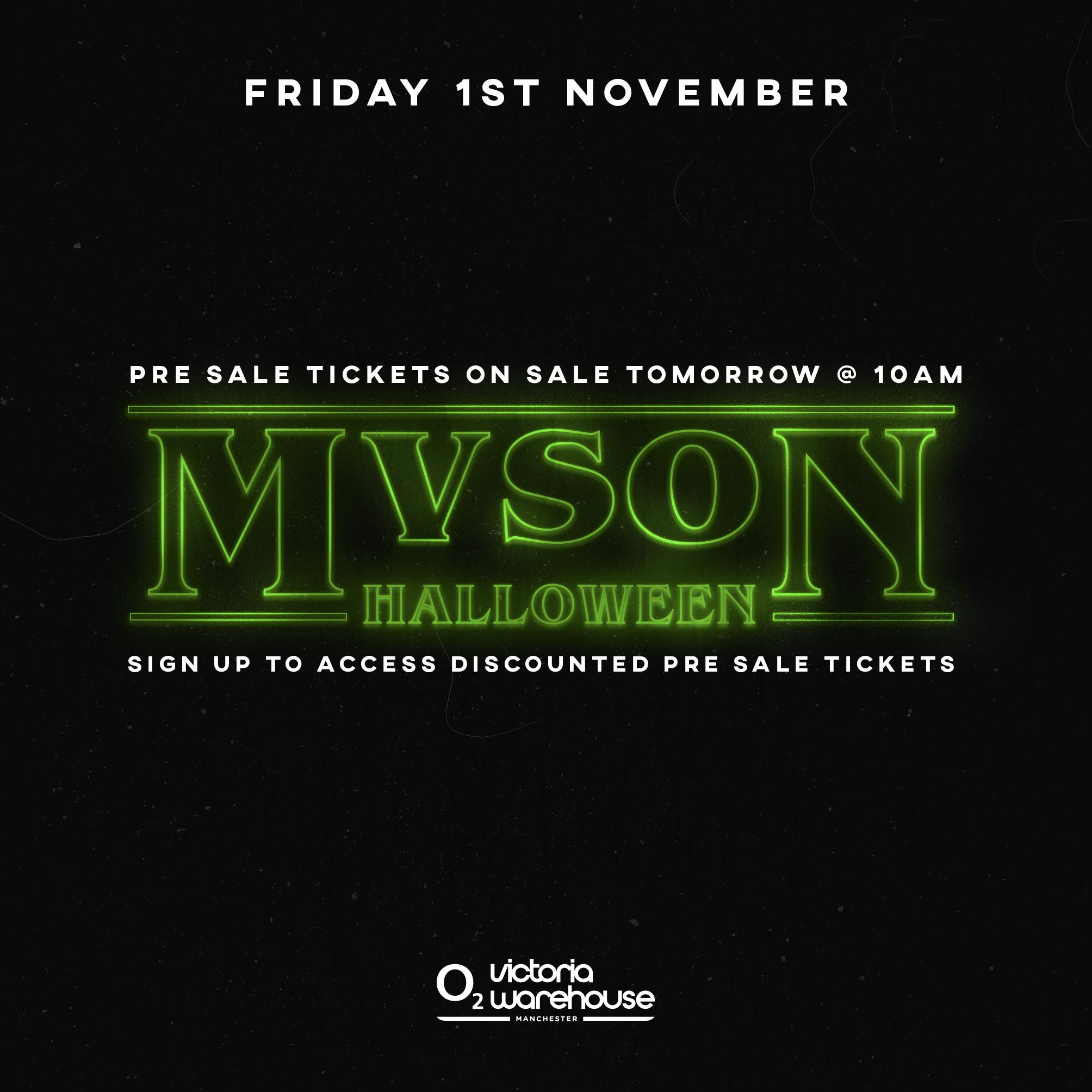 MVSON Presents A Nightmare at Victoria Warehouse Tickets