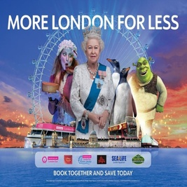 Merlin's Magical London: 5 Attractions In 1 –  London Dungeon + The Lastminute.com London Eye + Shrek's Adventure + Sea Life + Madame Tussauds
