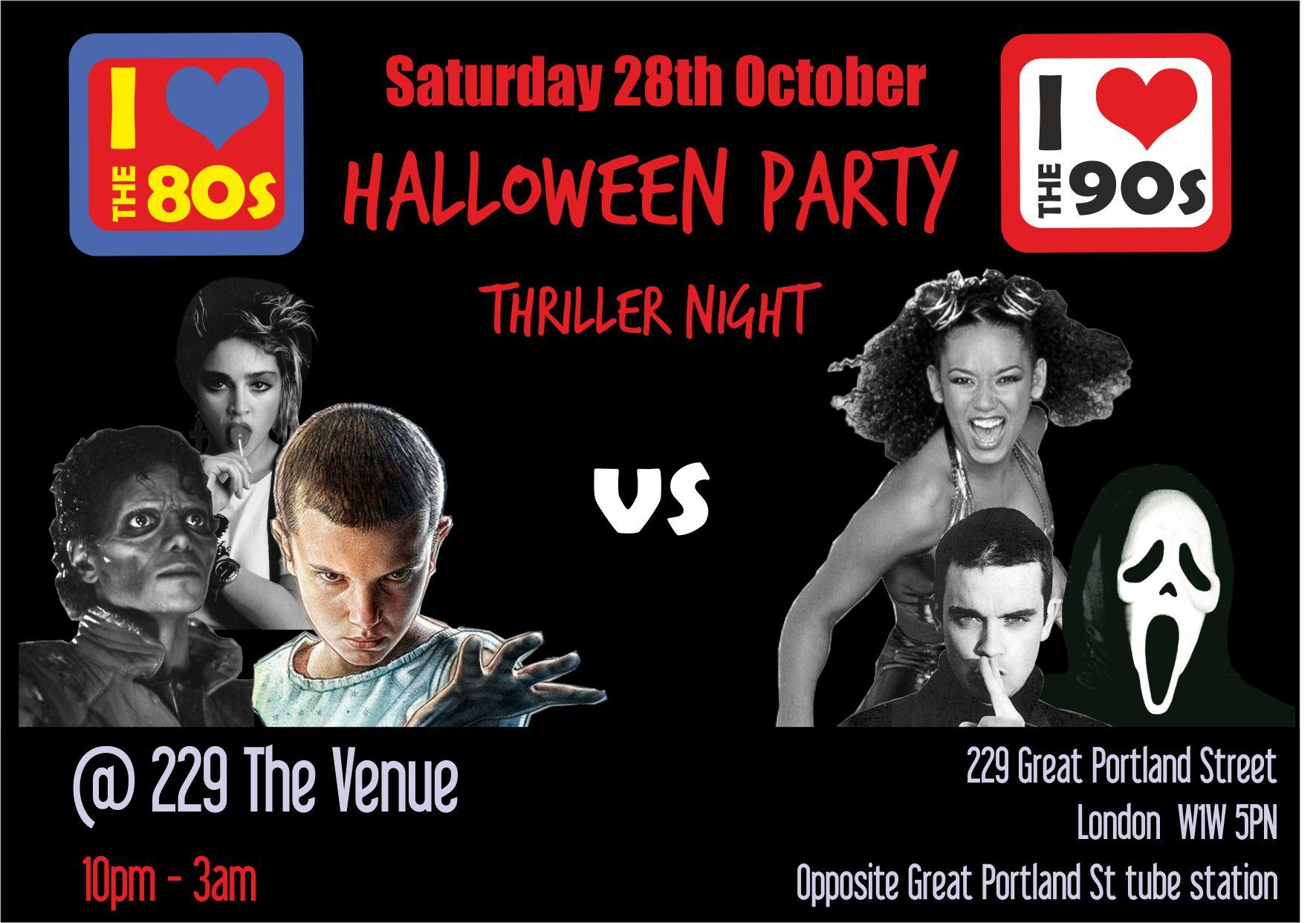 I love the 80s vs 90s Halloween Party Tickets | 229 The Venue ...