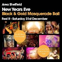 Area Sheffield - The Black & Gold NYE Masquerade Ball 16/17