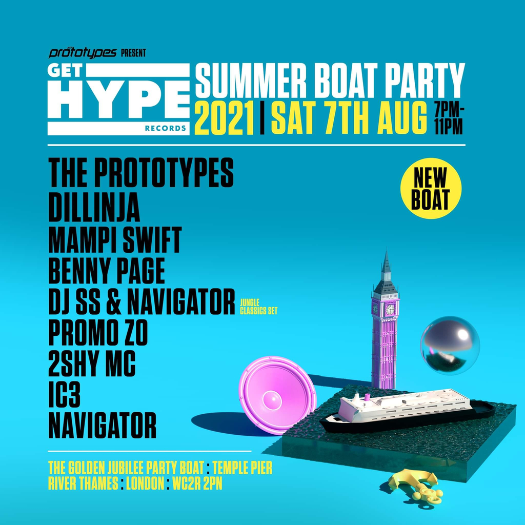 The Prototypes present GET HYPE Records Summer Boat Party ...