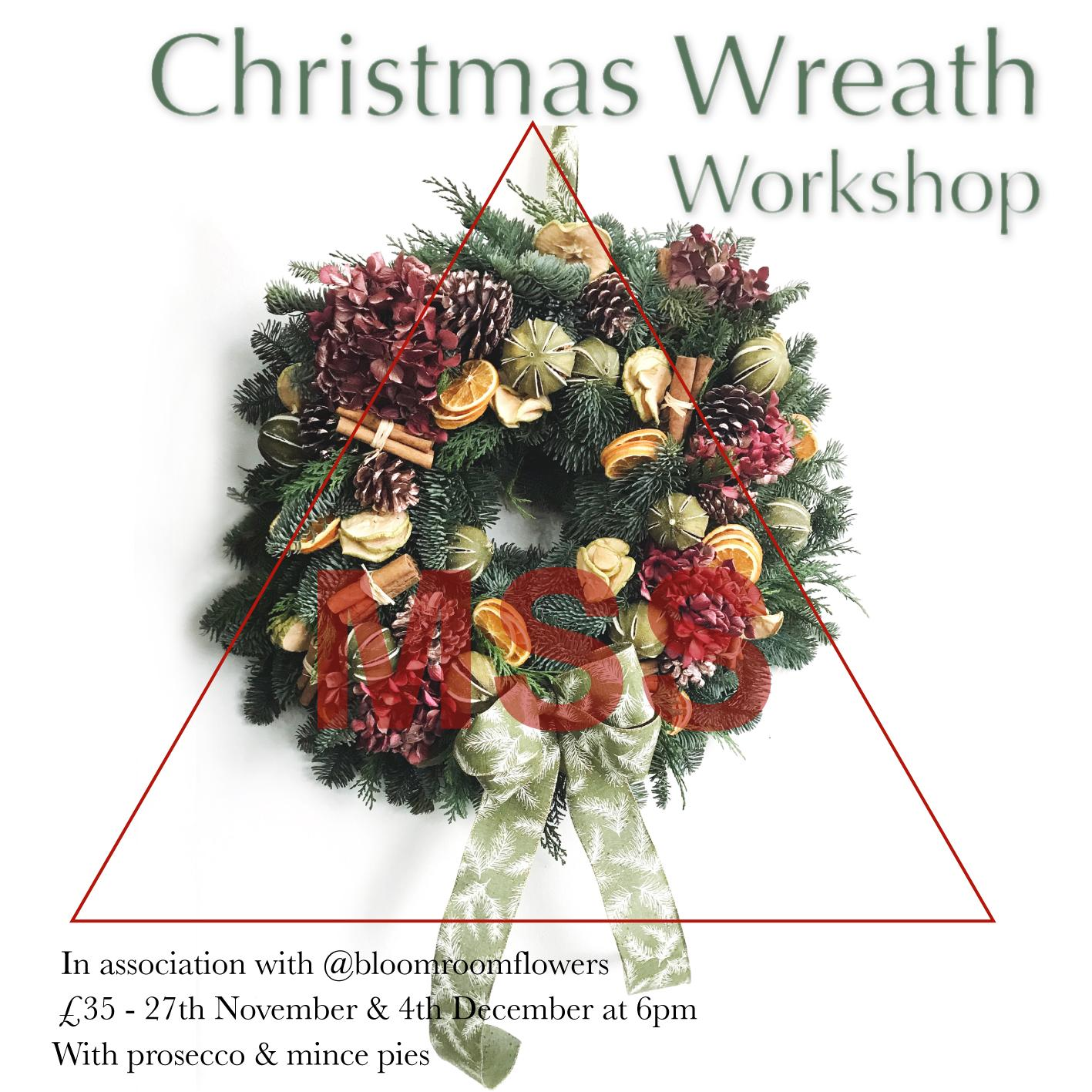 Image Christmas Wreath.Christmas Wreath Making Workshop At Marine Street Social