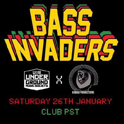 Underground X Kodiak: Bass Invaders w/ Urbandawn, Sl8r & Arttu