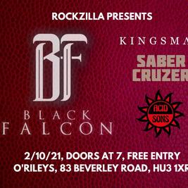 Rockzilla presents: BLACK FALCON + supports