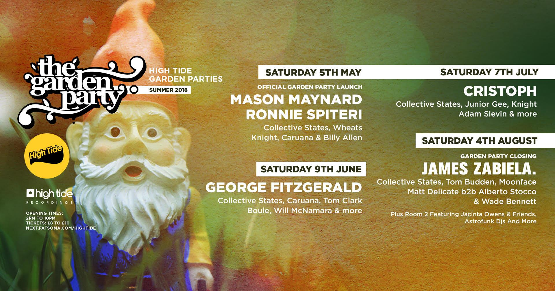 High tide garden party feat james zabiela tickets sobar event flyer malvernweather Image collections