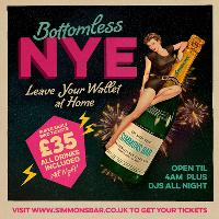 Bottomless NYE Party at Simmons Piccadilly Circus