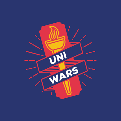 The ULTIMATE student battle. Giant games and challenges to pit unis against each other.  EVERY TICKET COMES WITH A T-SHIRT IN YOUR UNI'S COLOURS.