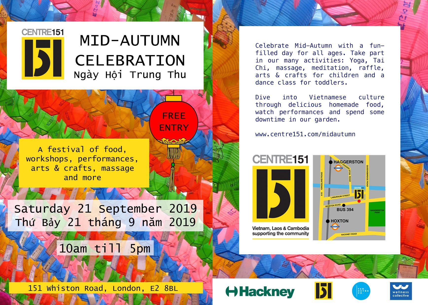 MID-AUTUMN CELEBRATION at Centre 151   Centre 151 London