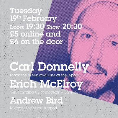Carl Donnelly Headlines Comedy at Milk