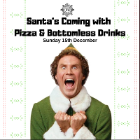 Pizza and Bottomless Drinks - Elf Style