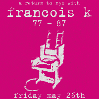electric chair pres..A Return To NYC with Francois K...