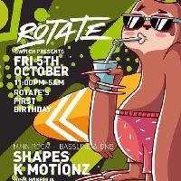 Rotate's 1st Birthday w/ Shapes & K Motionz