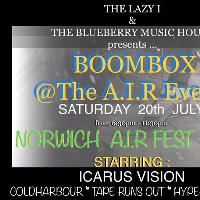 Norwich A.I.R FEST 2019 presents Boombox @The Blueberry