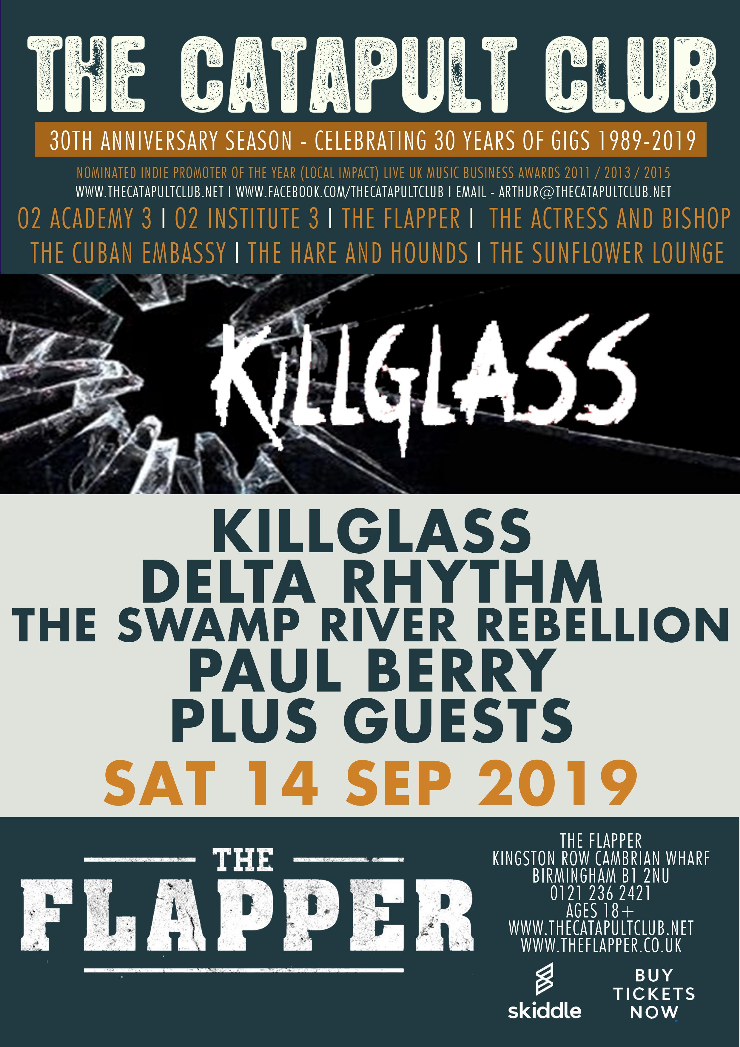 KillGlass / Delta Rhythm / Swamp River Rebellion / Paul Berry at The Flapper
