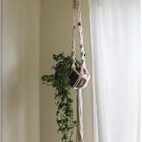 macramé plant pot hanger workshop