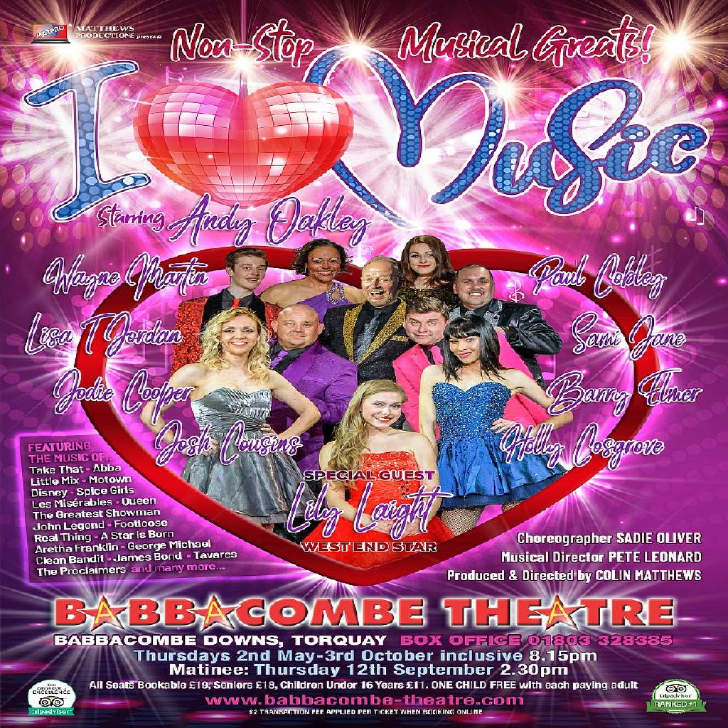 I Music | Babbacombe Theatre Torquay | Thu 13th June 2019 Lineup