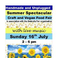 Handmade and Unplugged Craft and Vegan Food Fair with Live Music