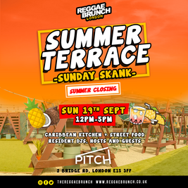 Reggae brunch - Summer Terrace - Sunday Skank - SUN 19TH SEPT