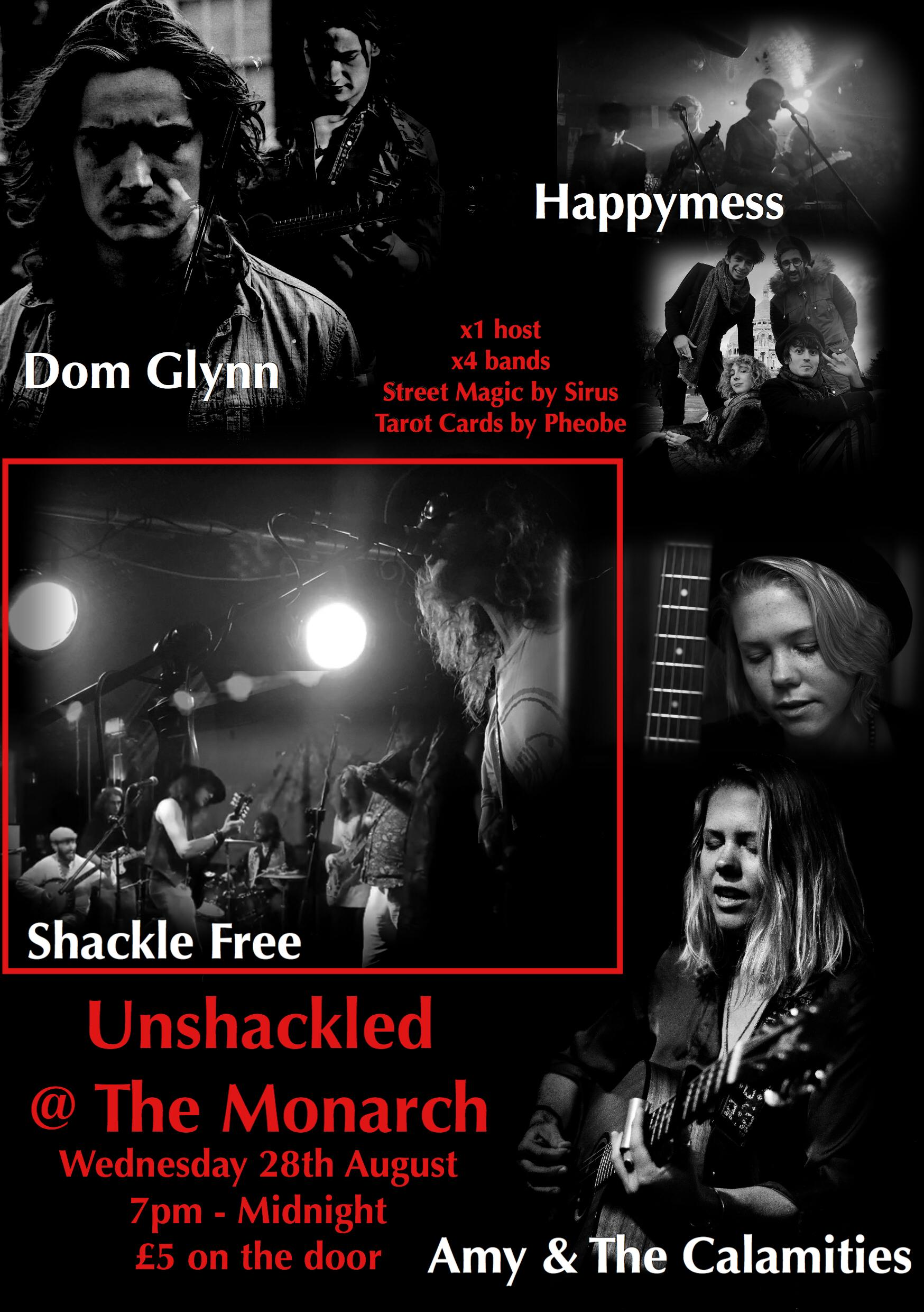 Unshackled | The Monarch Camden, London | Wed 28th August 2019 Lineup