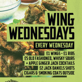 Wing Wednesdays at Joshua Brooks!