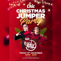 Christmas jumper party Ft ILL Phil at Chic