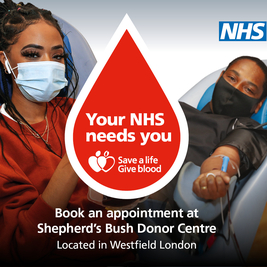 Blood Donation Session, Westfield London