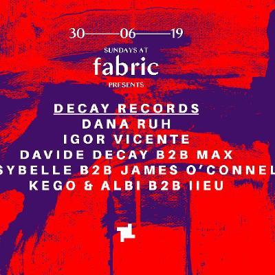 Sundays at fabric w/ Dana Ruh, Igor Vicente and more