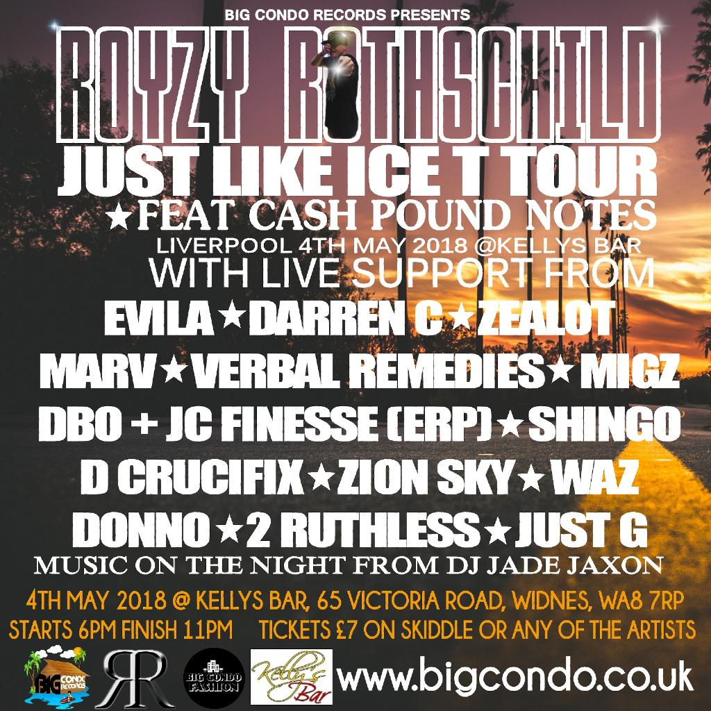 Royzy Rothschild Just Like Ice T Tour Widnes