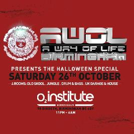 AWOL & Pandemonium presents The Halloween Special Tickets | O2 Institute  Birmingham  | Sat 26th October 2019 Lineup