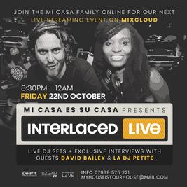 inTeRLaceD Live with David Bailey & DJ Petite