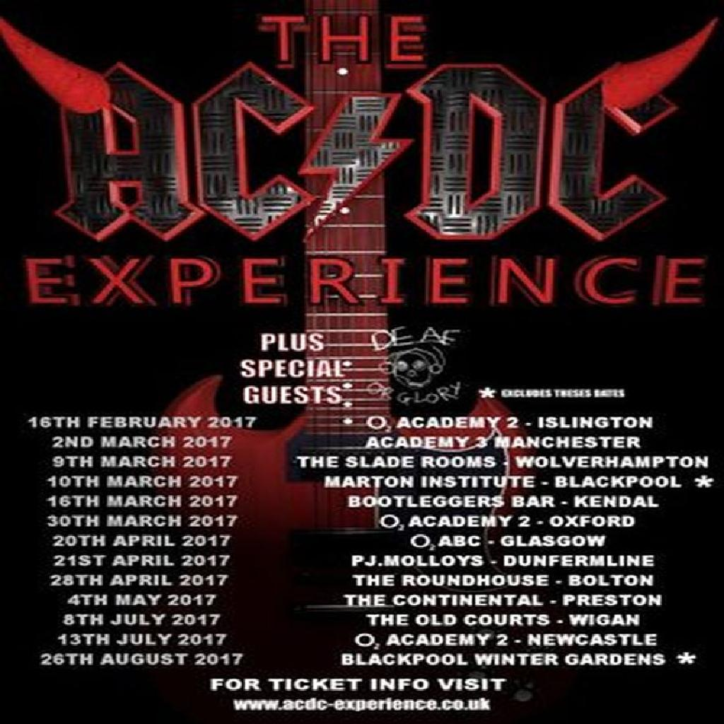 venue the ac dc experience winter gardens blackpool sat 26th