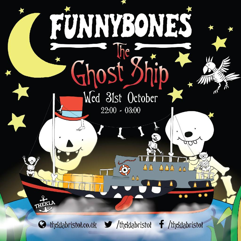 funny bones - the ghost ship - 90's halloween party! | thekla