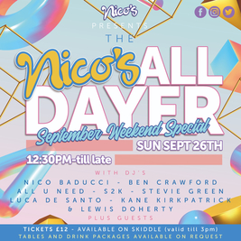 Nico's September Weekend All-Dayer