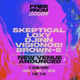 Extra Tickets – Free From Lockdown: Halloween Special w/ Skeptical Tickets | The Steel Yard London  | Sat 31st October 2020 Lineup