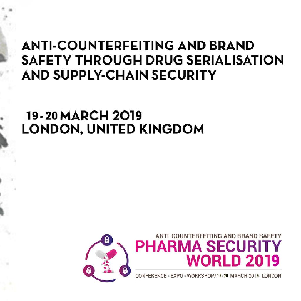 Pharma Security World 2019 Tickets | TBC London | Tue 19th March
