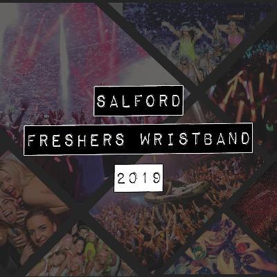 Salford freshers week wristband 2019