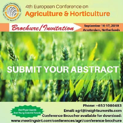 4th European Conference on Agriculture & Horticulture