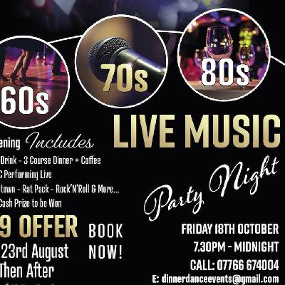 60s 70s 80s Live Music Party Night