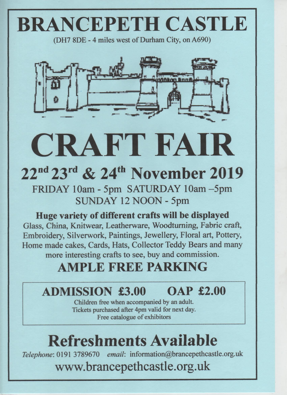 Christmas Crafts 2019.Brancepeth Castle Christmas Craft Fair 2019 Brancepeth