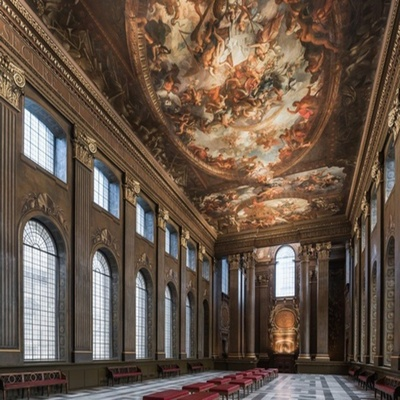 The Painted Hall at the Old Royal Naval College, Greenwich is one of the most spectacular and important baroque interiors in Europe. Its ceiling...