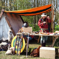 The Dark Ages Living History Event At Hunsbury Hill Country Park