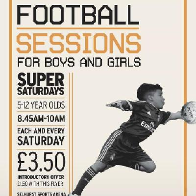 Cre8 Football-Super Saturday Sessions 4-12 Yr Olds
