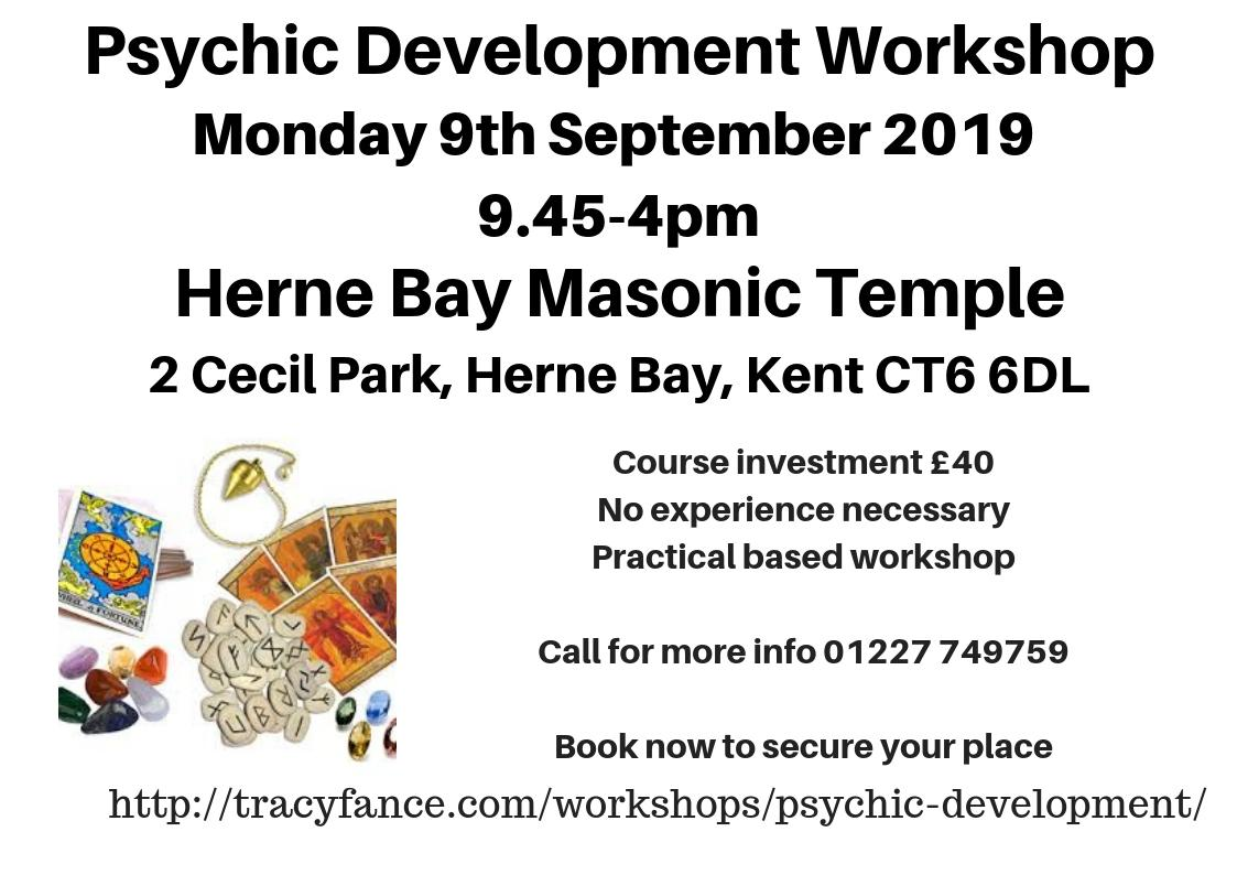 Psychic Development for Beginners with Tracy Fance at Masonic Temple