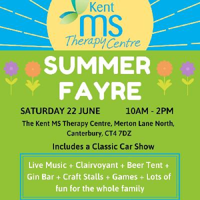 Summer Fayre | Kent MS Therapy Centre Canterbury | Sat 22nd June