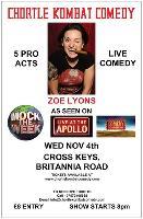 Chortle Kombat Comedy presents Zoe Lyons
