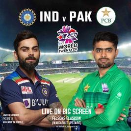 India Vs Pakistan: T20 WC Live Screening Glasgow