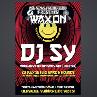 All Vinyl Promotions Present Wax On: DJ Sy