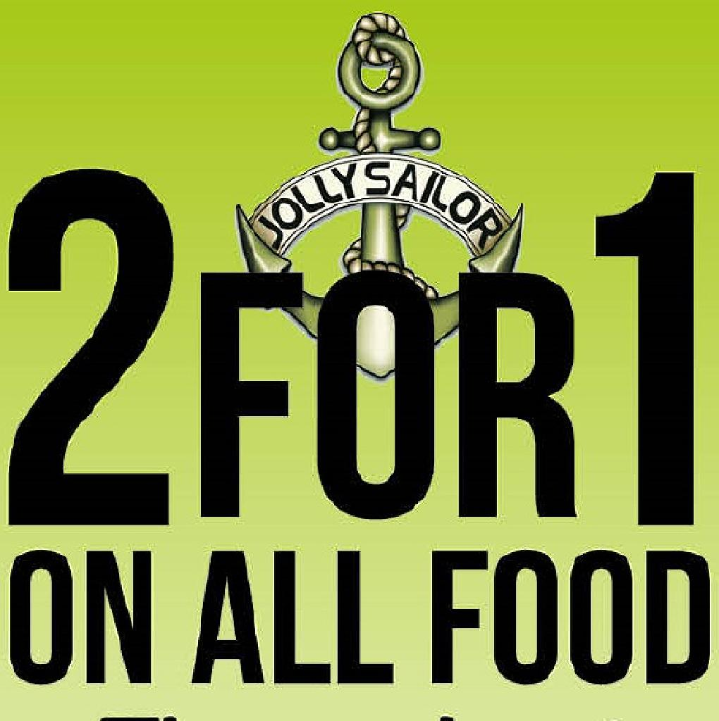 2 for 1 on all food throughout November